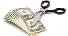 cutting money in half